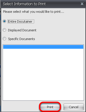 4. Select Information to Print