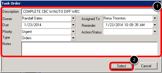 6. Complete the Task Information