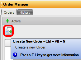 3. Create New Order