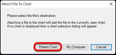 Choose the Patient Chart
