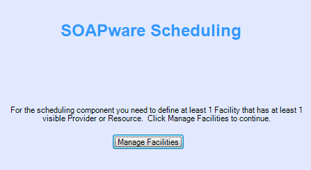2. Open the Facility Manager