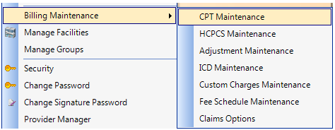 1. Open CPT Maintenance