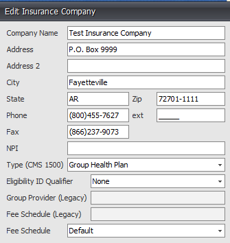 3. Complete Insurance Company Information