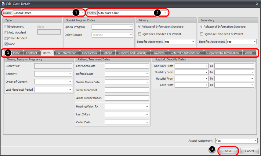5. Verify Owner and Facility