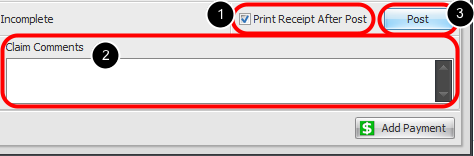 12. Print Receipt & Post Charges