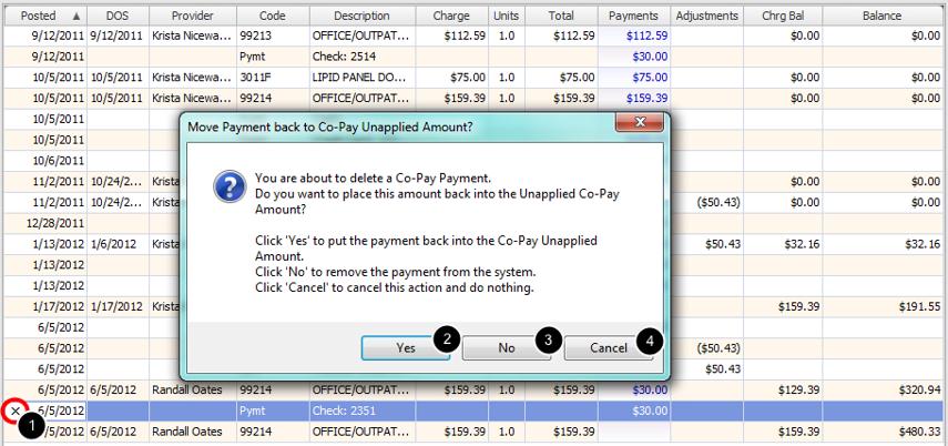 3. Delete Co-Pay