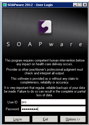 1. Log In to SOAPware