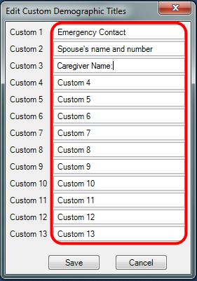 2. Edit Custom Fields