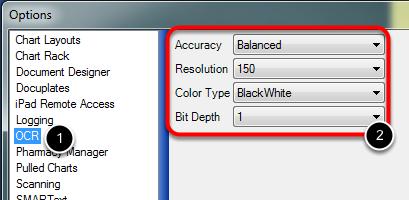 2. Select OCR Settings