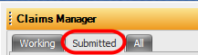 2. Open the Submitted Tab