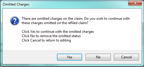 5. Confirm Omitted Charges