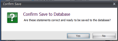4. Confirm Save to Database