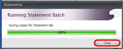 5. Close the Statements Dialog