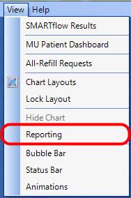 1. Open Custom Reporting