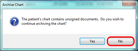 Unsigned Documents