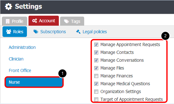 4. Assign Permissions to Clinic Roles