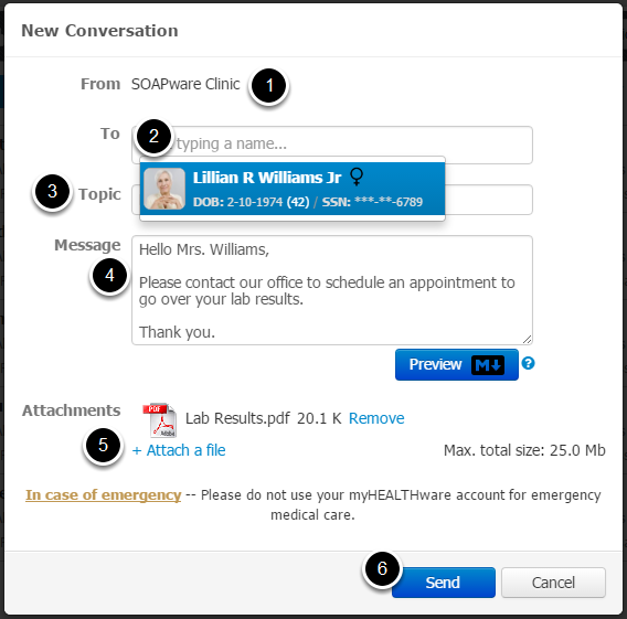 2. Enter New Conversation Information