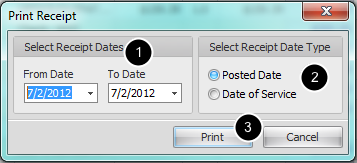 4. Select Dates for Receipts/Statement