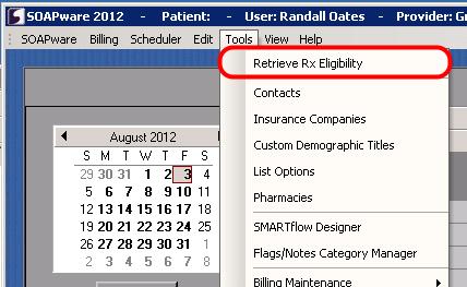 2. Open Retrieve Rx Eligibility