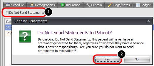 """4. Indicate """"Do Not Send Statements"""""""