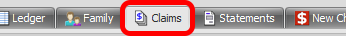 3. Open the Claims Tab