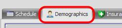 2. Open the Demographics Tab