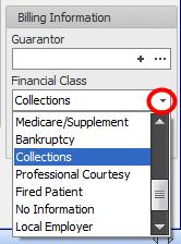 3. Select Financial Class