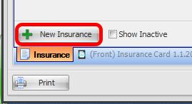 4. Click New Insurance