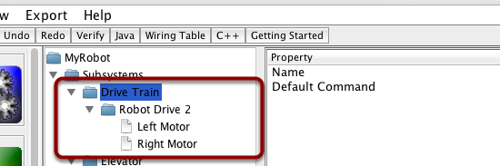 Create a Drive Train subsystem