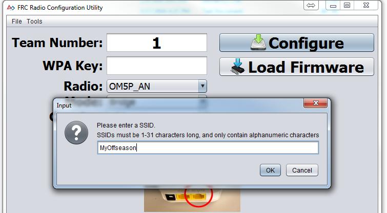 Enter SSID