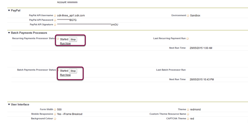 Scroll down to Batch Payments Processors heading and Stop any processors running