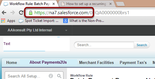 Copy the Salesforce URL from any screen