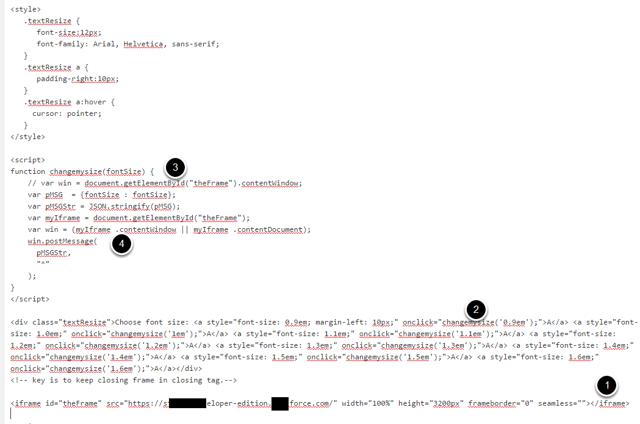 postMessage Javascript setup