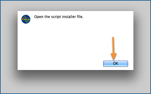 Open the script installer file.