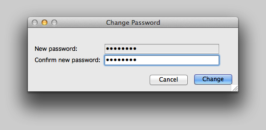 Enter the new password.