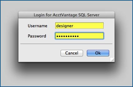 Login to the AcctVantage SQL Server.