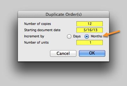 Multiple, Recurring Copies