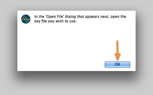 Open the Key File