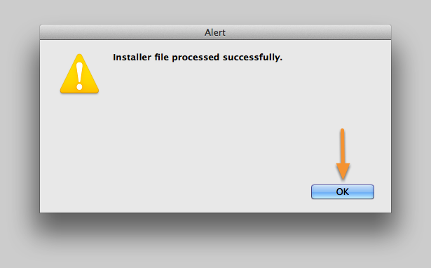 Installer file processed successfully.