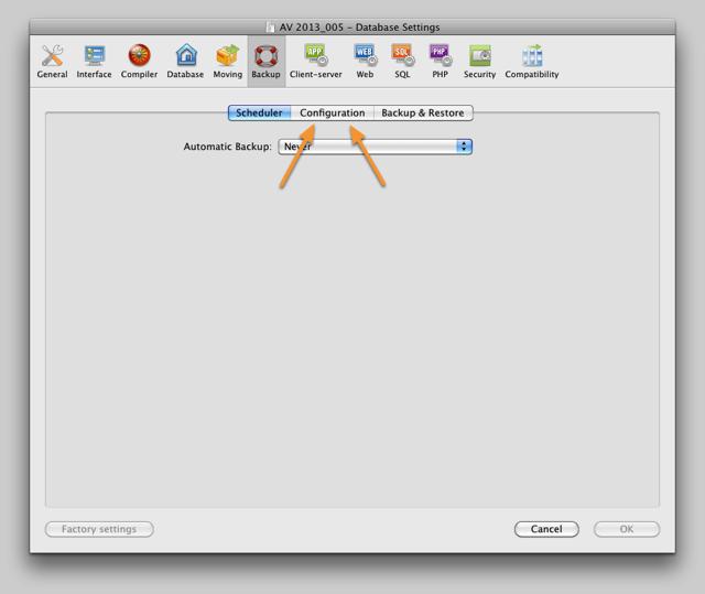 AV Server Backup Preference