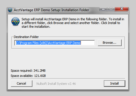 Choose an installation folder.