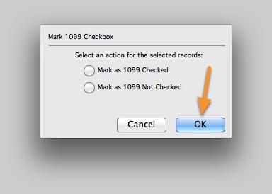 Mark 1099 Checkbox.