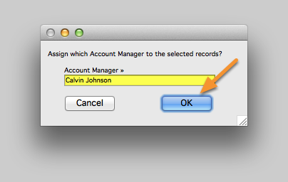 Enter Account Manager (or select one from the list)