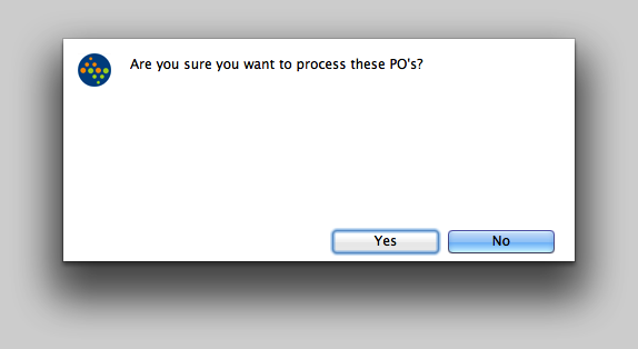 Confirm the PO's to process