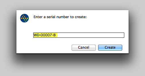 3.1 Add each Serial Number