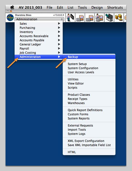 Make a Backup of your Database!