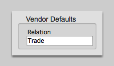 Vendor Defaults