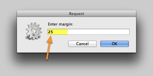 Enter the new Order Margin.