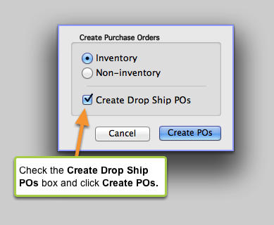 Create a Drop-Ship Purchase Order (cont'd)