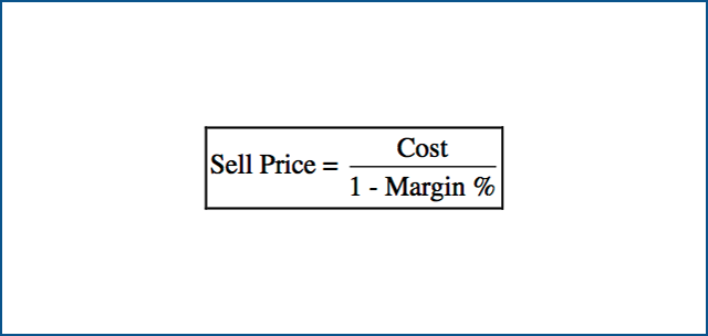 Sell Price Calculation (based on Margin).
